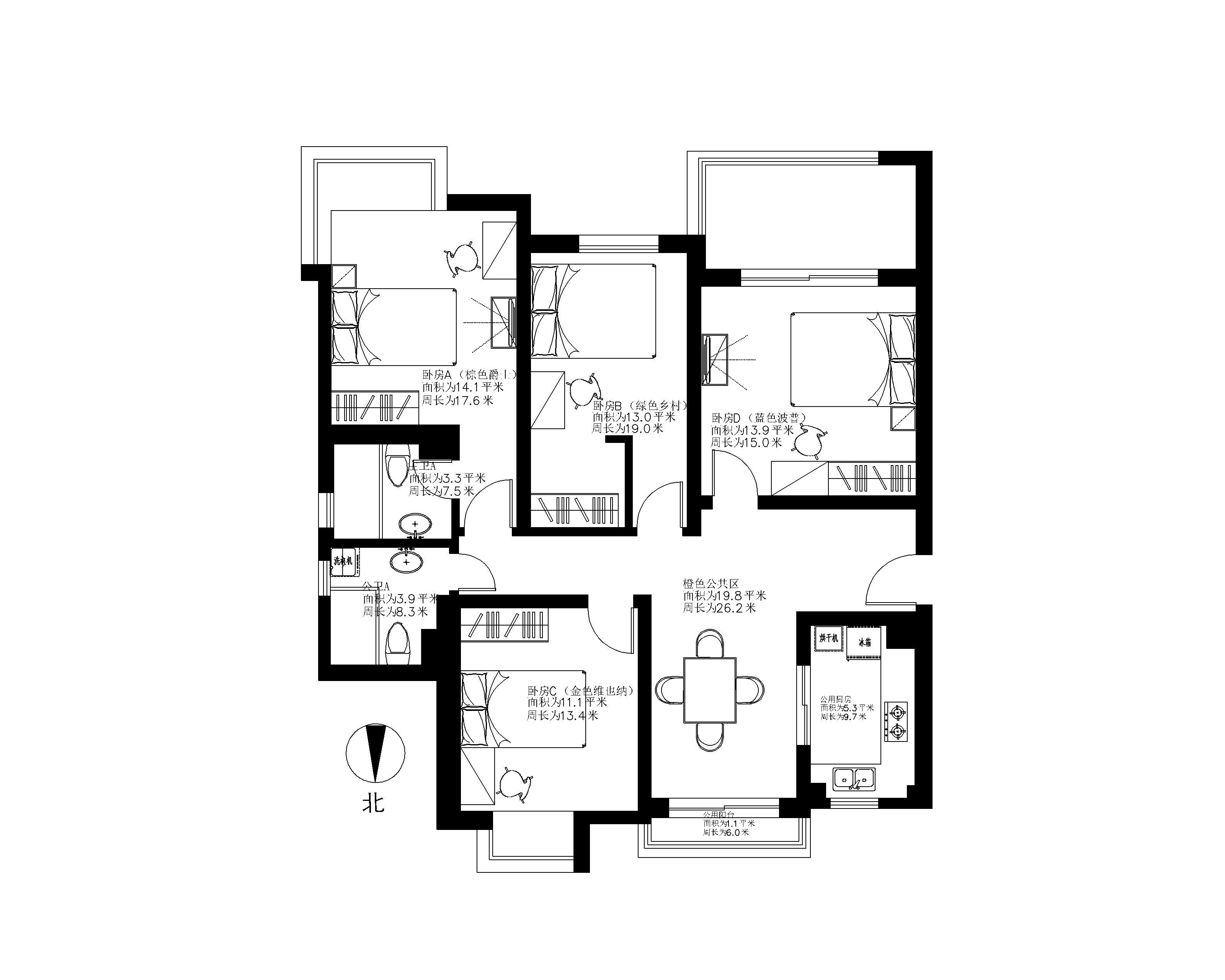 13米11米房屋设计图纸展示