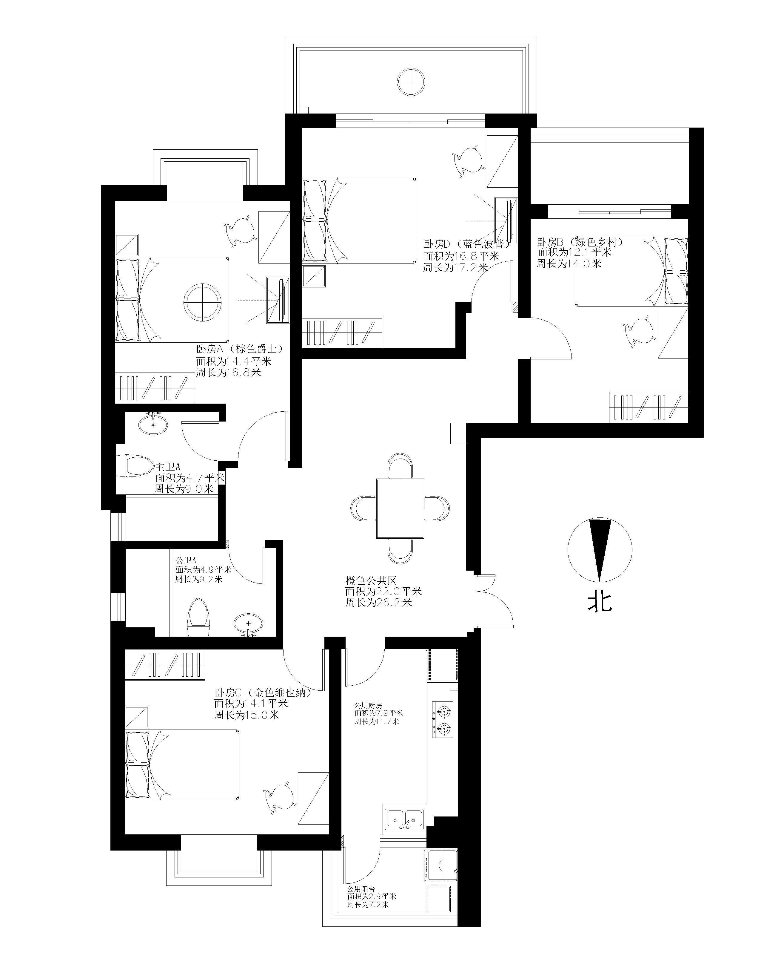 设计图分享 有堂屋房屋设计图  13米x7米房屋设计图 宽640×501高图片