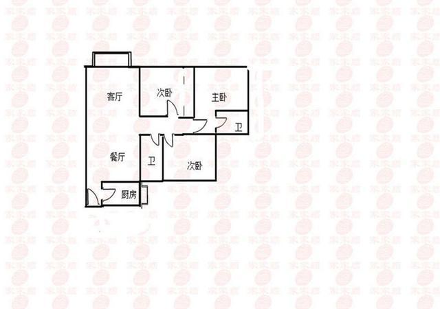 坪山区-京基御景印象-3室2厅2卫-100.1㎡