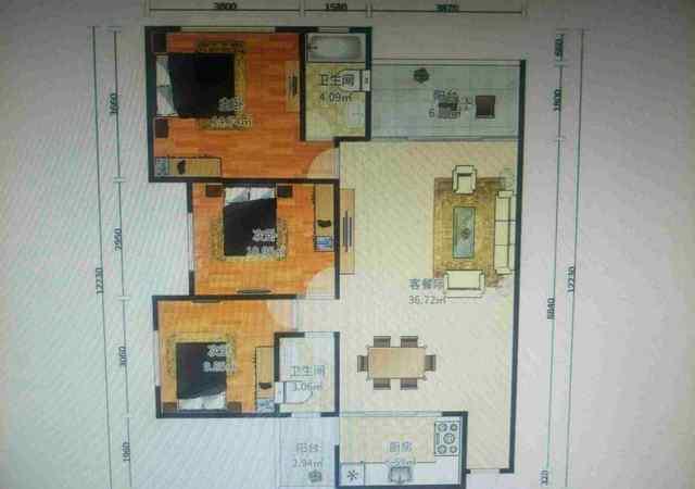 光明新区-宏发上域-3室2厅2卫-81.3㎡